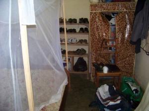 La chambre à Nac que j'utilise, avec moustiquaire inclu